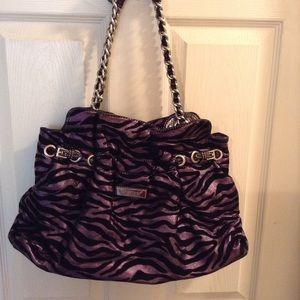 Handbags - Purple Zebra Print Purse